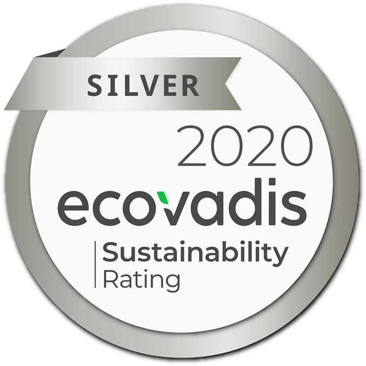 ECOVADIS Sustainability Rating SILVER AWARD 2020